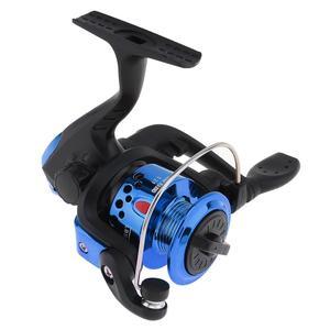 Image 3 - Kırmızı/mavi Mini 200 serisi 3BB rulman 5.2:1 dişli oranı iplik balıkçılık Reel 100m 3 # döngüler döndür balıkçılık Reel