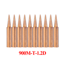 10Pcs/lot 900M-T-1.2D Soldering Tips Pure Copper Solder Iron Welding Tips BGA Soldering Station Tools