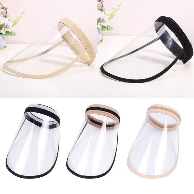 Adult Kids Protective Empty Top Sun Hat Clear Full Face Shield Anti Splash Saliva Eye Protection Outdoor Headband Cap 1