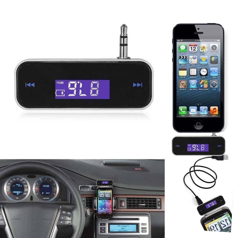 Беспроводной музыкальный автомобильный радиоприемник FM-передатчик для 3,5 мм MP3 мобильного телефона планшета
