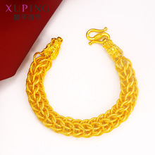 Gold-plated New Sand Gold Retro Faucet Mens Bracelet Time Trend Alloy Ball Party Wear Jewelry