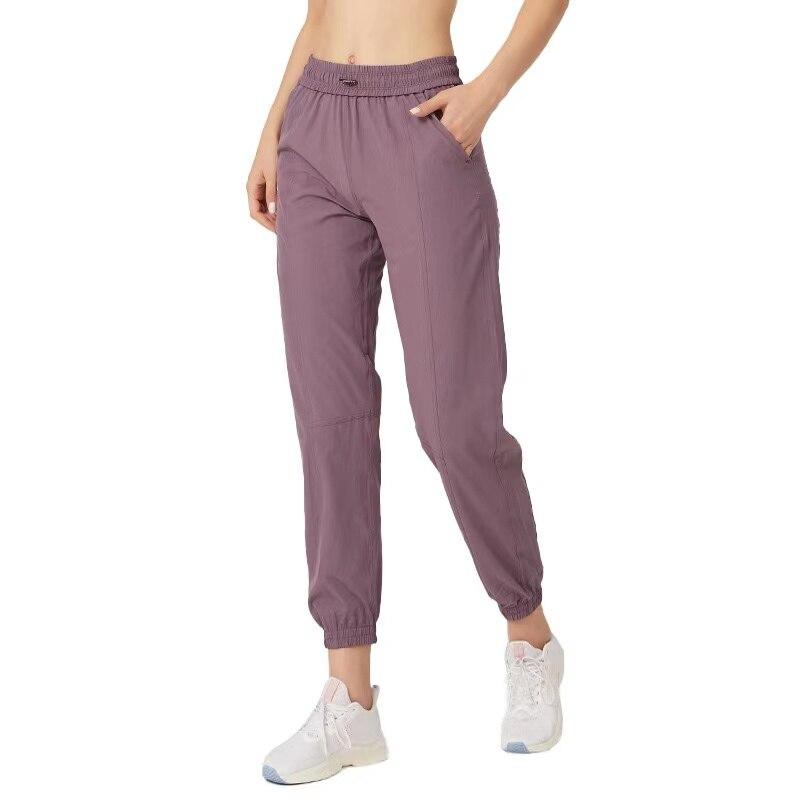 Женские тренировочные спортивные джоггеры Lulu, спортивные брюки с карманами, женские брюки для фитнеса, Мягкие штаны для бега
