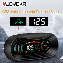 Vjoycar VP18 2020 Neue GPS HUD Head Up Display 12V Auto Tacho Neigungsmesser Pitch Automotive Spannung Kompass Höhe Uhr