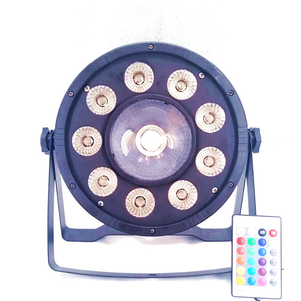 Wireless Remote Control LED Flat Par 9x10W+30W RGB 3in1 Lighting Led Stage Lights Led Par Light