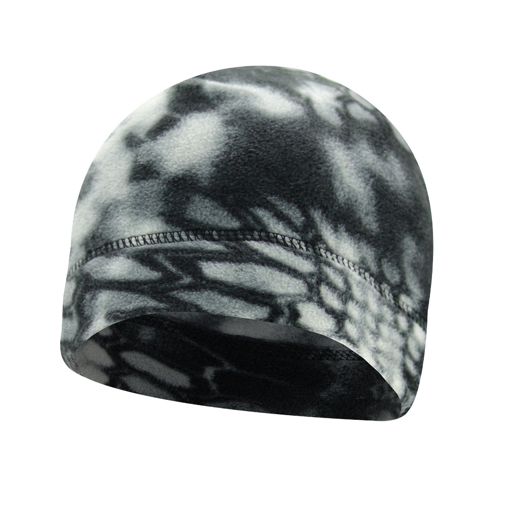 Military Cap For Men Winter Beanie Marine Corps Tactical Camouflage Thickened Male Outdoor Warm Windproof Elastic Polar Fleece