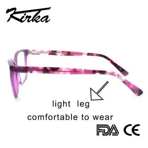 Image 2 - Kirka Purple Women Spectacles Frames Oversized Eyeglass Frames Clear Lens Glasses Optical Prescription Glasses Frame For Women