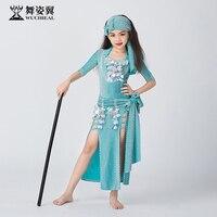 Dance wing children belly dance performance clothing 2019 performance clothing robe modern dance india dance rt393