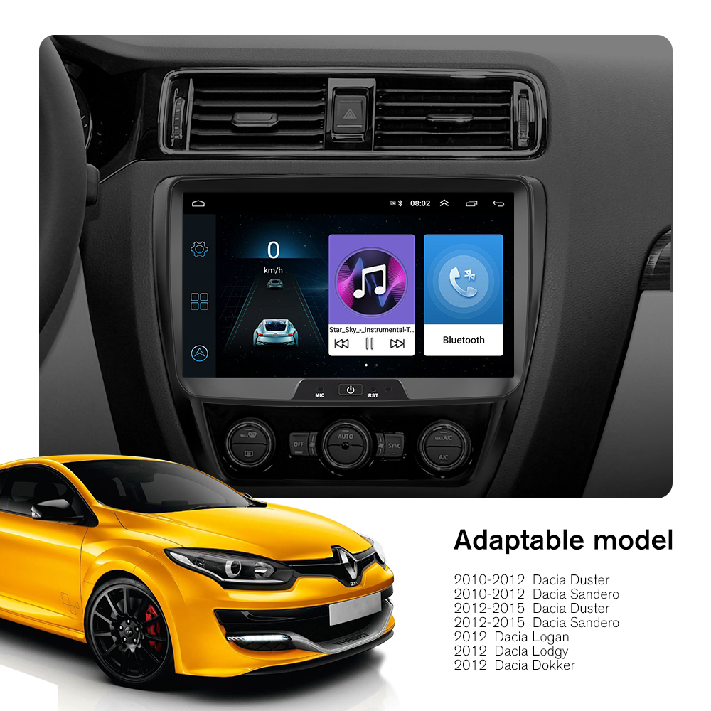 Image 5 - Hikity Android Car Radio Autoradio 8''2 Din Car Multimedia MP5 Player GPS Buletooth Car Stereo Mirror Link For Renault Sander-in Car Multimedia Player from Automobiles & Motorcycles