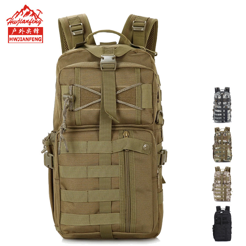 Outdoor Sports Multi-functional Camouflage Backpack Army Fans Mountain Climbing Hiking Bag Shoulder 3P Tactical Backpack Wholesa