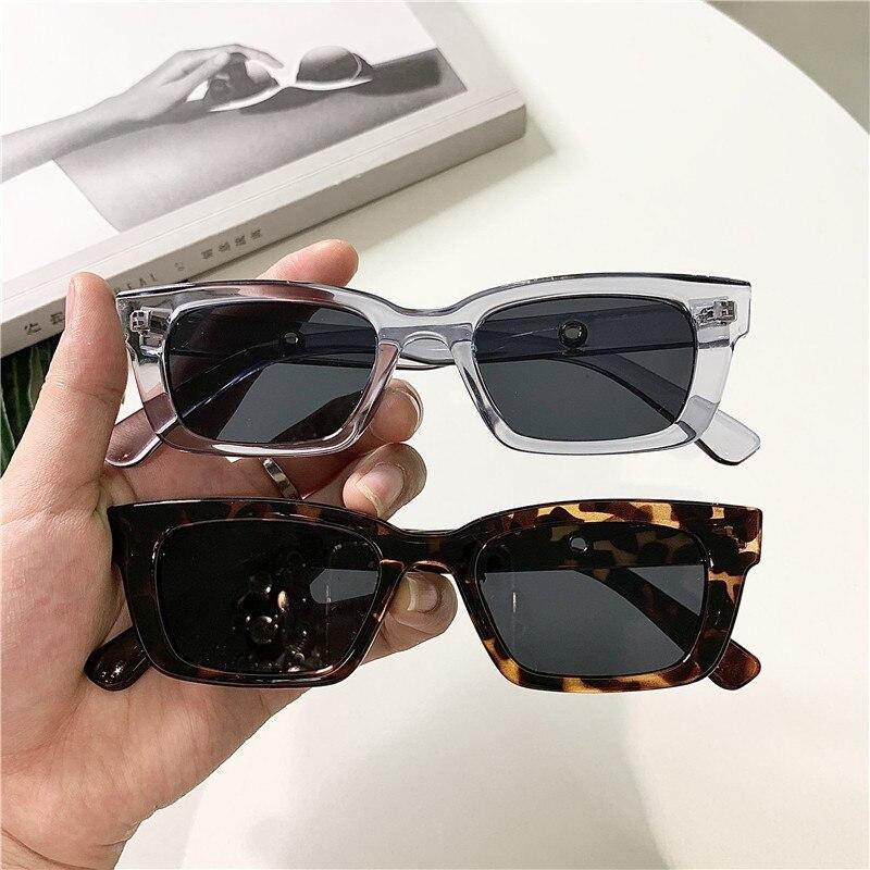 2021 nouveau femmes Rectangle Vintage lunettes de soleil marque concepteur rétro Points lunettes de soleil femme dame lunettes chat oeil pilote lunettes