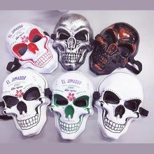 купить Masquerade Supplies Cosplay Costumes Plastic Mask Halloween Ghastful Creepy Realistic Horrible Scary Skull Head Mask Party Props дешево