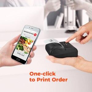 Image 2 - IssyzonePos Bluetooth чековый 80 мм принтер термальный принтер Android iOS мини штрих код мобильный принтер бесплатно POS приложение билет розничная торговля