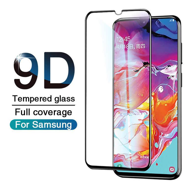 9D الزجاج المقسى على لسامسونج غالاكسي A50 A40 A30 A70 كامل واقي للشاشة الزجاج لسامسونج M10 M20 A20 A10 طبقة رقيقة واقية