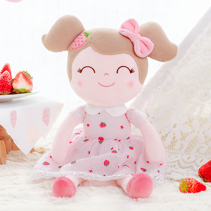 Gloveleya Plush Dolls Spring Girl Strawberry   Baby Doll Gifts Cloth Dolls Kids Rag Doll Plush Toys Kawaii