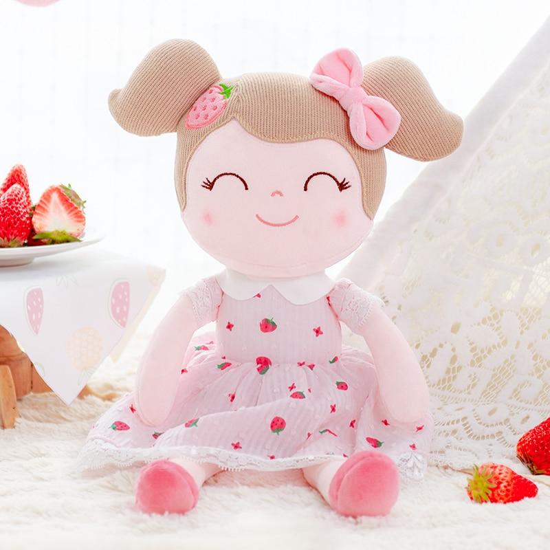 Gloveleya Plush Dolls Spring Girl Strawberry   Baby Doll Gifts Cloth Dolls Kids Rag Doll Plush Toys Kawaii