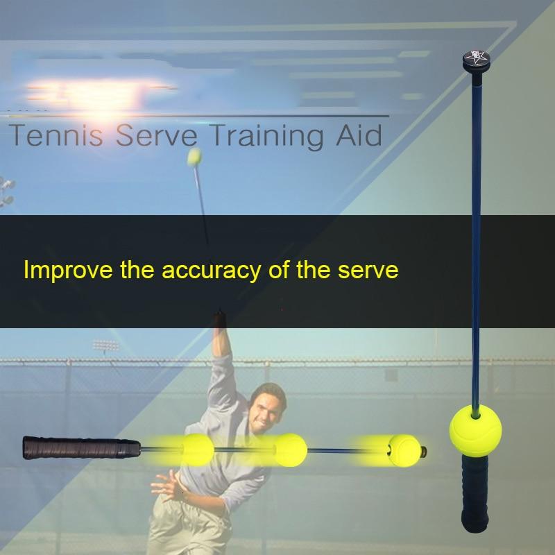 Professional Tennis Practice Aids Tennis Serve Trainer Equipment Sports Accessories Portable Self-Duty Tennis Ball Training Tool