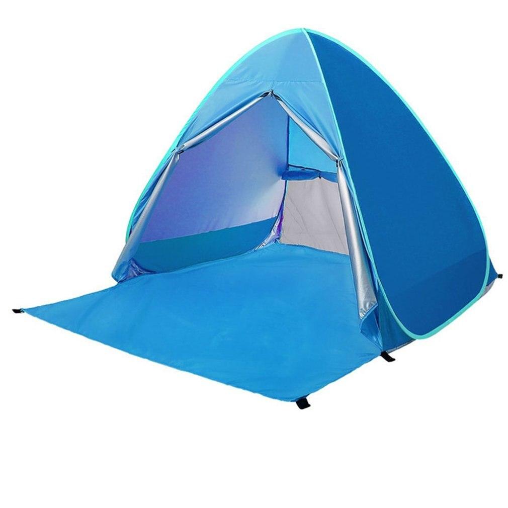 1-2 человек открытый пляж Кемпинг палатка дикий спальный тент солнцезащитный крем UV50 складной Автоматическая скорость открытый тент
