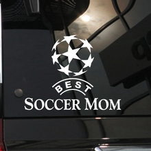 Mom Football Player Wall Sticker Sports Decal Kids Room Decoration Posters Vinyl Car Soccer Player Decal 3d soccer player and goal wall art sticker decal