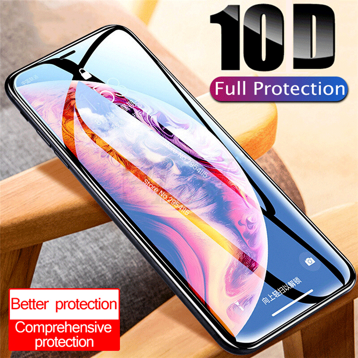10d Safety Protective Tempered Glass For Aiphone Iphone 6 6s 7 8 Plus X Xr Xs Xsmax 11 Pro Max Glasses Display Screenprotector