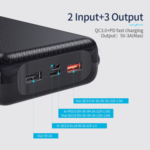 Image 5 - باور بانك من Essager بسعة 30000 مللي أمبير في الساعة شحن سريع 3.0 PD USB C 30000 مللي أمبير في الساعة باور بانك لهاتف شاومي mi iPhone شاحن بطارية خارجي محمول