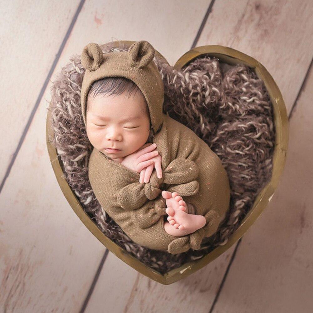 Don & Judy 2019 nouveau en bois amour coeur boîte accessoires pour nouveau-né photographie accessoires posant accessoire Studio de tir Fotografia