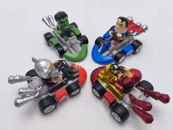 Iron Man Captain America Thor Hulk samochód z napędem Pull Back wyścigi rysunek przegubowe Avengers lalka zabawka dekoracyjna tanie i dobre opinie Disney Model 12 + y CN (pochodzenie) Wersja zremasterowana Produkty na stanie Unisex Ironman Wyroby gotowe Gotowy żołnierzyk