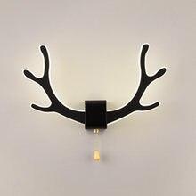Скандинавские современные акриловые олении рога светодиодный