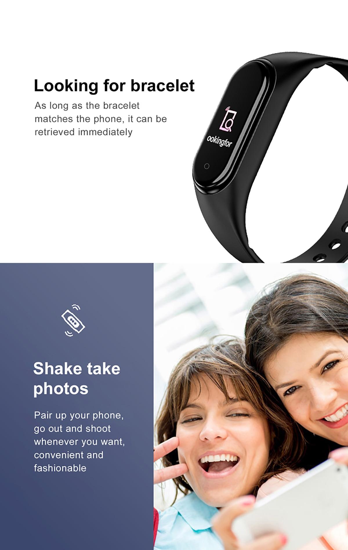 Hb3836407a94d46a684a386ad7605e675c New M4 Smart Band Fitness Tracker Smart Watch Sport Smart Bracelet Heart Rate Blood Pressure Smartband Monitor Health Wristband