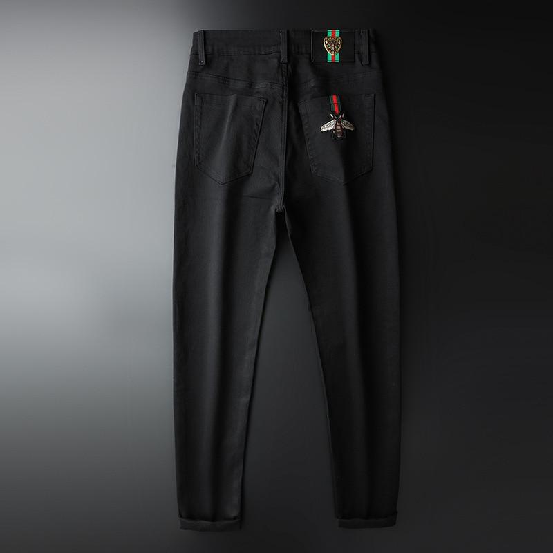 Trending Apparel New Men Black Denim Bee Shorts