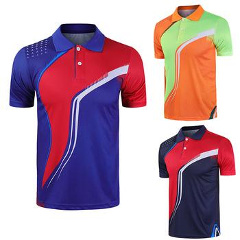 Nowe sportowe koszulki do badmintona koszulki do biegania męskie damskie koszulki fitness koszulki do tenisa stołowego szybkoschnąca koszulka sportowa Customzie tanie i dobre opinie ZISURON POLIESTER SHORT Szybkoschnące oddychająca Zapobiega marszczeniu Dobrze pasuje do rozmiaru wybierz swój normalny rozmiar