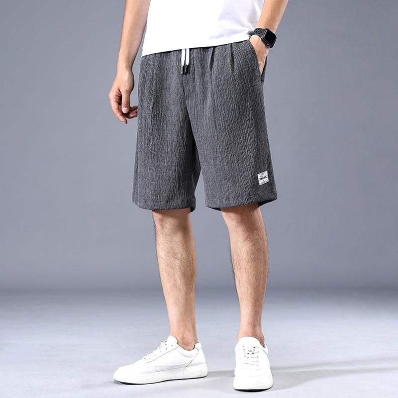Summer Men Shorts Loose Sportswear Short Pants 2020 Casual Shorts Drawstring Fitness Gyms Men's Shorts Breathable Short 38