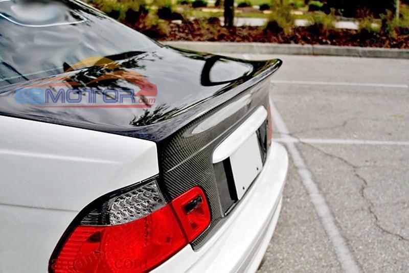 UNPAINTED OEM CSL สไตล์ FBIER แก้ว TRUNK สำหรับ BMW E46 4D ซีดาน 2000-2006 B437F