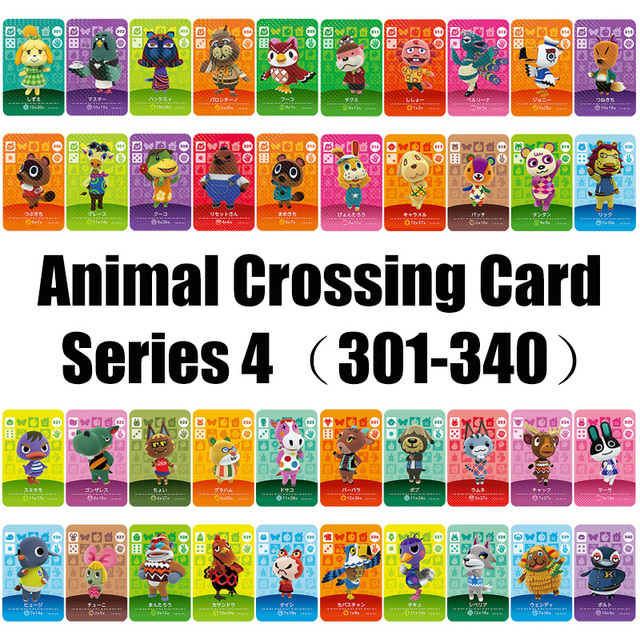 Series4(301 340)Animal Crossing כרטיס Amiibo כרטיס עבודה עבור NS משחקים