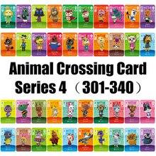 Series4(301 340) cartão de cruzamento animal amiibo trabalho para jogos de ns