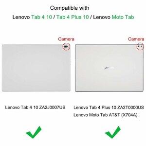 """Image 2 - DELLUNITÀ di elaborazione di Caso Della Copertura del Cuoio per Lenovo Tab 4 10 Più TB X704F TB X704N TB X704L X704 10.1 """"TAB4 10 TB X304F TB X304N x304L Tablet Caso"""