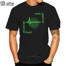 Camiseta negra de manga corta con banda negativa de tipo O, camiseta estampada Vintage