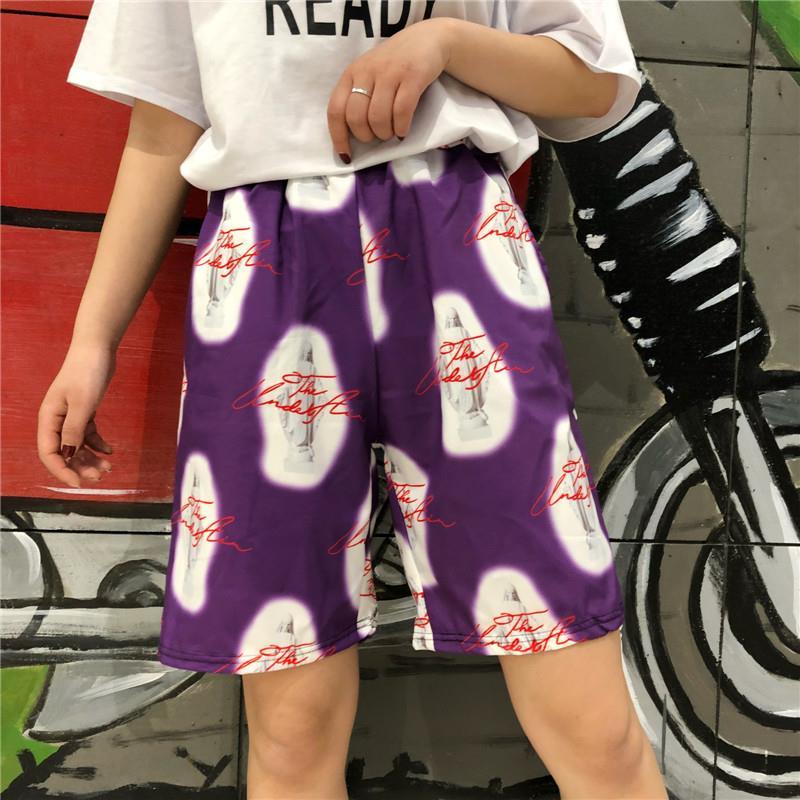 Unisex Hip Hop Shorts Harajuku Shorts Retro Madonna Print Loose  Shorts For Men & Women Casual Shorts Student Street Wear