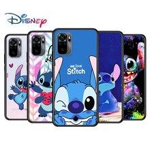 Stitch cute cartoon for Xiaomi Redmi Note 10 10S 9 9T 9S 9Pro Max 8T 8Pro 8 7 6 5 Pro 5A 4X 4 Soft Black Phone Case