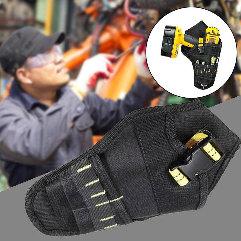 Оксфордская Ткань сумка для инструментов Аккумуляторный держатель для инструментов кобура для дрелей аппаратные средства
