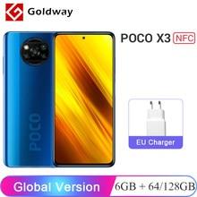 Versão global xiaomi poco x3 nfc 6gb 64gb/128gb smartphone snapdragon 732g 64mp quad câmera 6.67