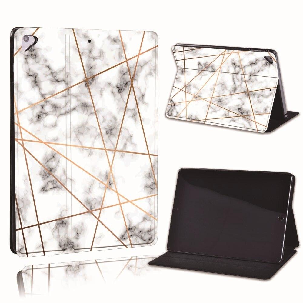 3.stripe marble Blue For Apple iPad 8 10 2 2020 8th 8 Generation A2428 A2429 Slim Printed Geometry PU