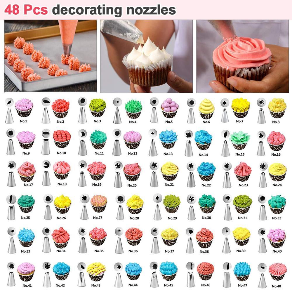 NEW cake tool 82 piece set decorating mouth cake decorating mouth TPU decorating bag converter cream scraper cake decorating