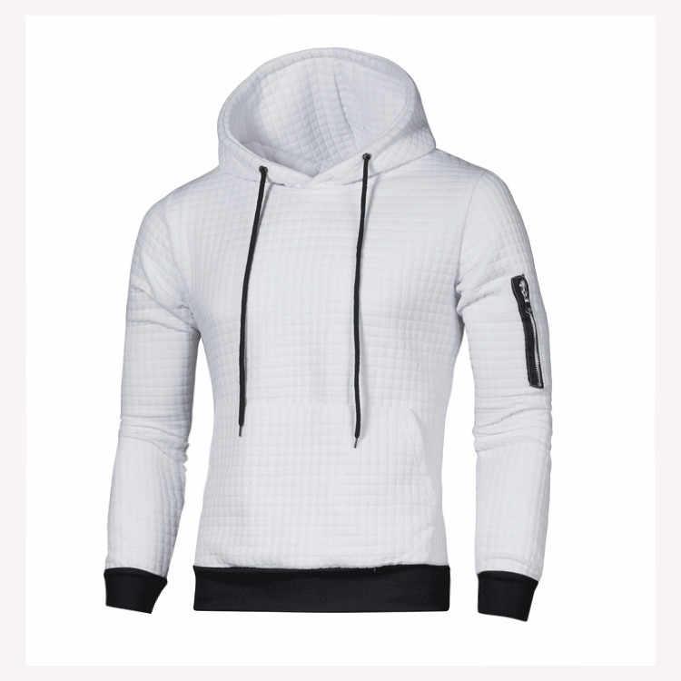 2019 스웨터 남자 솔리드 풀 오버 새로운 패션 남자 캐주얼 후드 스웨터 가을 겨울 따뜻한 Femme 남자 옷 슬림 맞는 점퍼