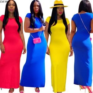 2020 kobiet długa letnia sukienka Maxi Sexy z krótkim rękawem śliczne O-Neck bandaż nocna impreza klub Casual Street sukienki Vestidos GL105