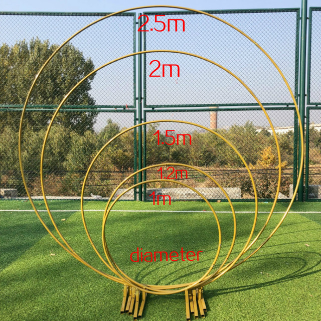Wrought Iron Frame Pillar Wedding Arch DIY Round Party and Frame Window Party Festival Background Frame