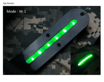 On promotion tactical helmet LED lamp light for base jump helmet motocycle and sports light GZ150063|Weapon Lights|   -