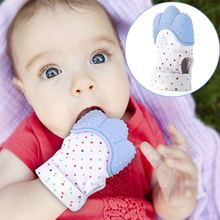 Newborn Chewable Nursing Mittens Baby Silicone Mitts Teething Mitten Glove Teeth