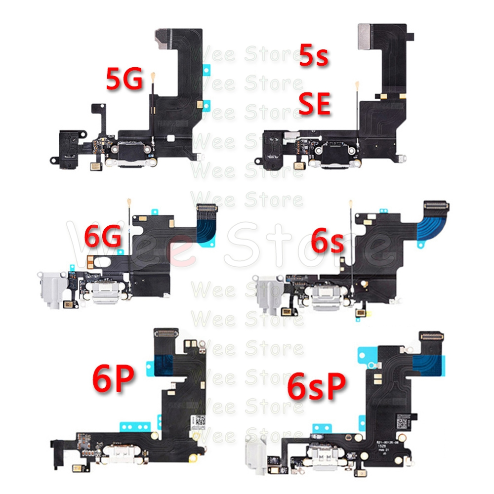 High Quality Bottom USB Charger Mic Port Dock Charging Flex Cable For IPhone 6 6s Plus 5 5S SE Dock Connector Flex Free Shipping