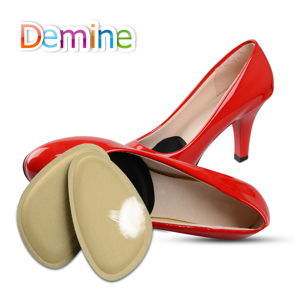 Demine <font><b>4D</b></font> Sponge Forefoot Pads for Women Sandals High Heels <font><b>Shoes</b></font> Anti-slip Cushion Half Yard Insert Pad Foot Care Front Insoles image