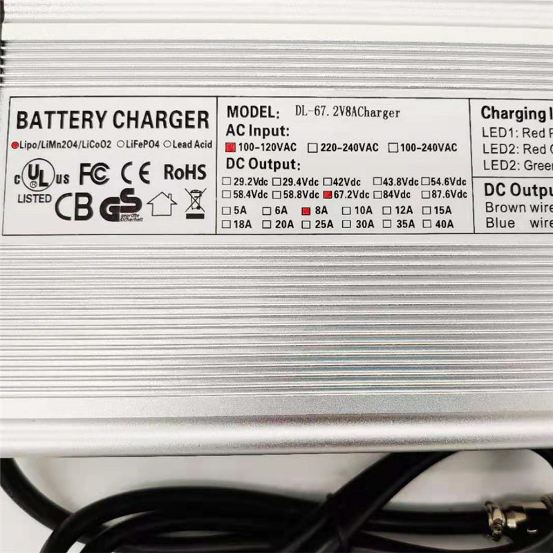 USA Standard 67 2V 8A Fast Charger for Dualtron Electric Scooter